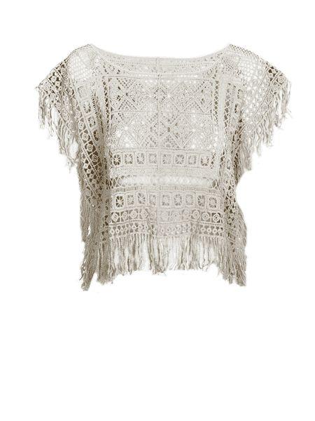 Primark online: poncho de crochet
