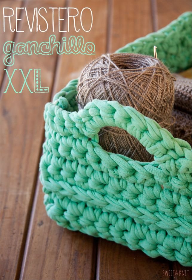 Xxl Knitting Yarn : Patr�n de revistero ganchillo xxl trapillo
