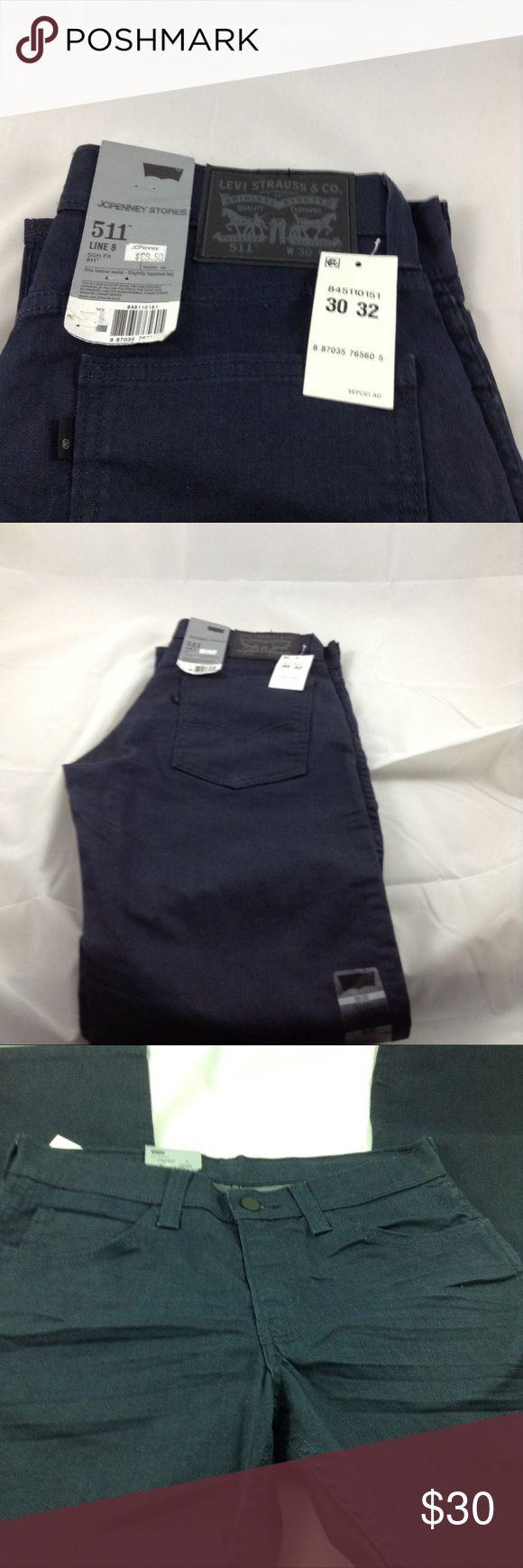 Levi Strauss & co jeans Levi's 511 waist 30,L32, NWT, sit slightly below waist, slightly tapered leg, slim fit Levi's Jeans Skinny