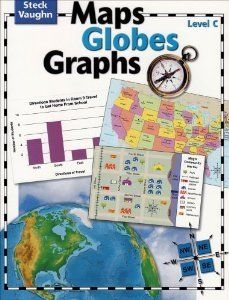 Steck Vaughn Maps, Globes, and Graphs is a secular workbook curriculum that teaches map skills.  6 levels are available for grades 1-6.