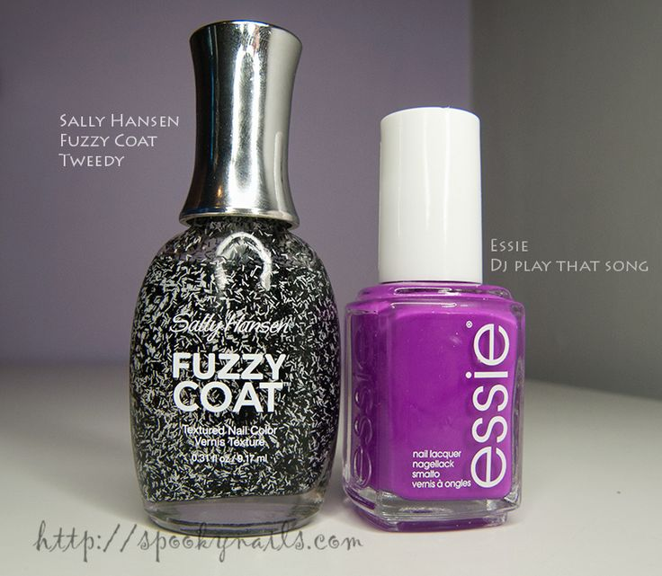Sally Hansen Fuzzy Topcoat Tweedy Essie Dj Play That Song