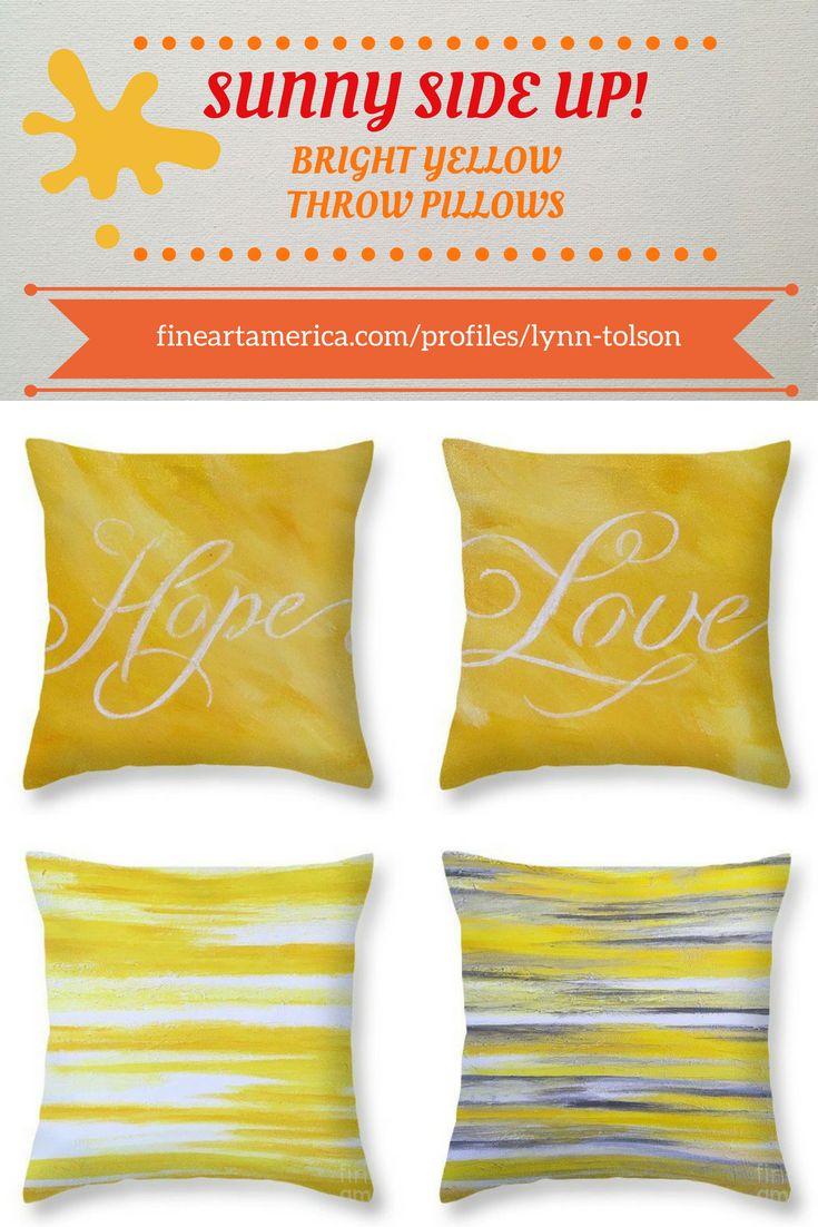 Sunny Cheerful Yellow! abstract art by artist-designer #LynnTolson #FineArtAmerica to buy click image #ThrowPillow #CouchPillow #HomeDecor #HomeDesign #YellowDecor #HomeAccessories #YellowThrowPillow #YellowThrowPillow #Yellow  #YellowHomeDecor #SunRoomDecor #LoftDecor #ApartmentDecor