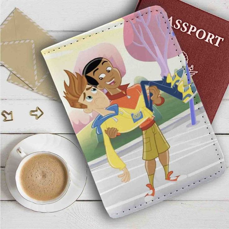 Fresh Beat Band of Spies Shout Holding Twist Leather Passport Wallet Case Cover