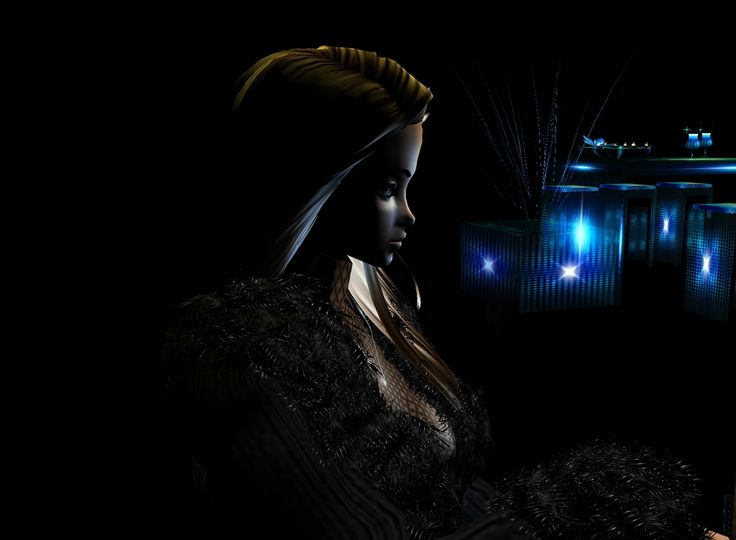 """Black and blue"" Captured Inside IMVU - Join the Fun!"