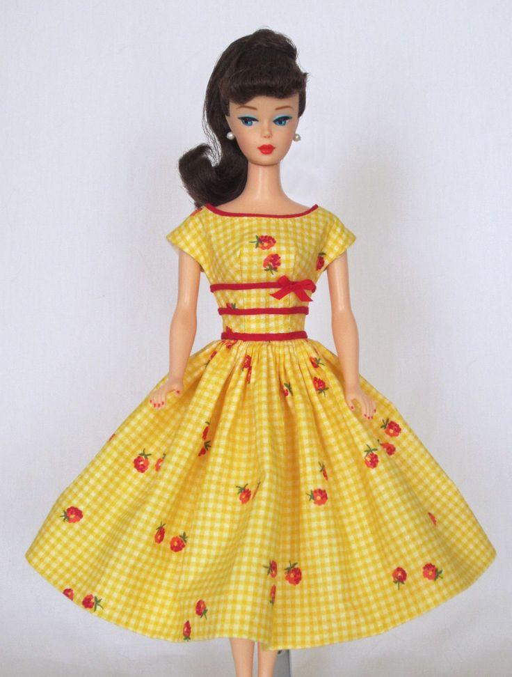 Picnic in the Park - Vintage Barbie Doll Dress Reproduction Barbie Clothes on eBay http://www.ebay.com/usr/fanfare1901?_trksid=p2047675.l2559