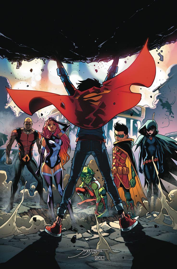 """SUPER_SONS_7PLANETA DE LAS CAPES"""" segunda parte!  El fabricante de monstruos Kraklow pone a Superboy a prueba durante su primer equipo con Damians Wayne Teen Titans.  Como ola tras ola de creaciones malvadas de Kraklow tratar de abrumar a los Titanes Adolescentes, Superboy puede convertir la marea en este ataque de enemigos?"""