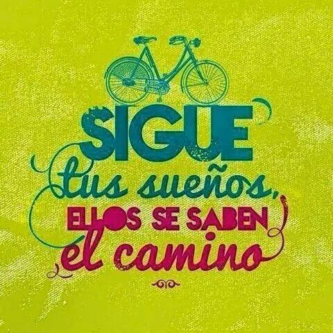 En bici o caminando,  pero hay que hacerlo!