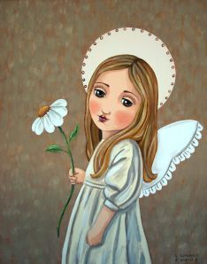 """Angel With Daisy"" by Claudia Garcia"