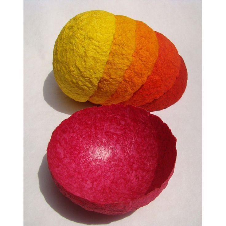 Bowl BW03 Summer #paper #welove #paperbowl #handmade #auroville #aurovillpaper #summer #paperlove #lovepaper #spaperbowl #art #madewithlove #decorart #decoration #paperart