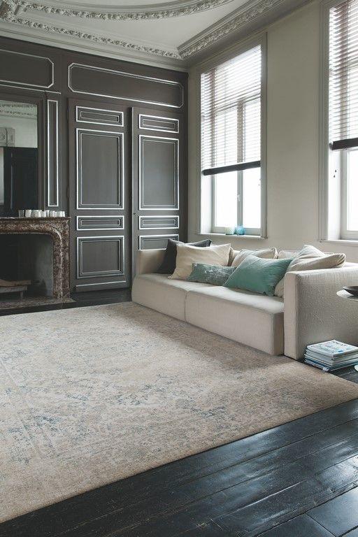 Een klassiek tapijt dat perfect in de woonkamer past.