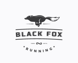 The way in which the brands name of a black fox is obviously combined with the logo of a running black fox is simple yet incredibly eye catching.