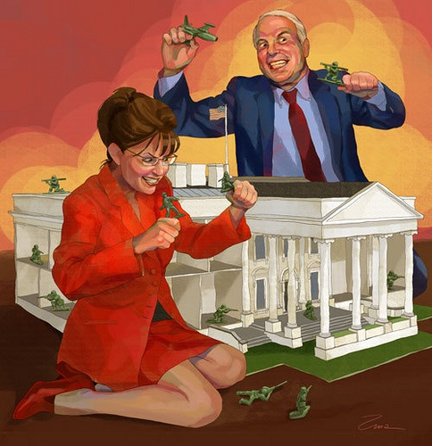 Alternate reality: McCain/Palin wins the 2008 election.she would have liked it to be Palin/mccain---that day ever comes i will be checking out Canada!!!this woman is evil!!