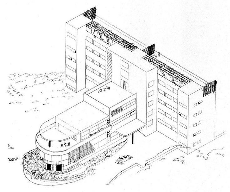 Machnáč Sanatorium, Jaromír Krejcar, Trenčianske Teplice, Czechoslovakia 1930-32