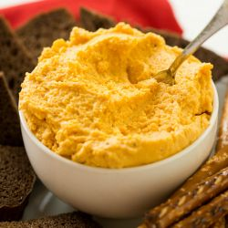 Oktoberfest German Beer Cheese Spread | Brown Eyed Baker im going to add more liquid and make this soup