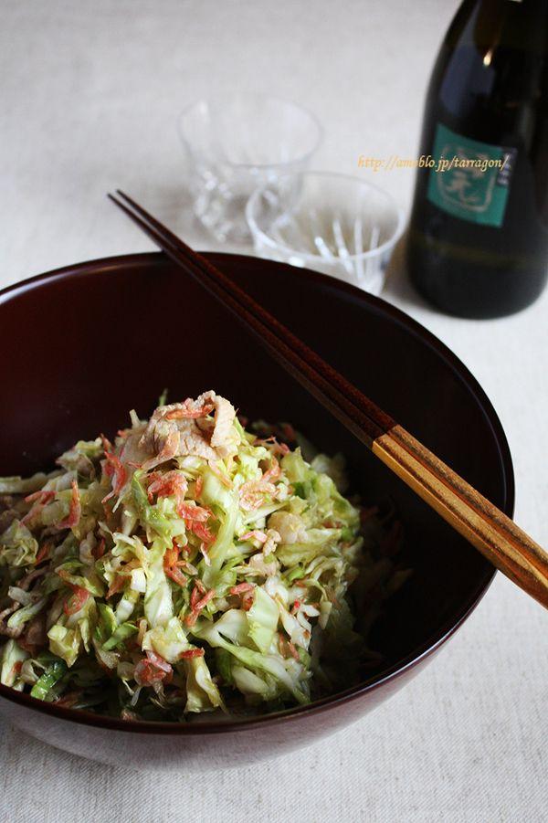 塩もみキャベツと茹で豚と桜えびのサラダ 柚子風味 by タラゴン (奥津 ...