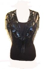 Beaded Capelet Shawl with Fringe - More Colors: Western Wear | Women Western Clothing | Western Apparel Clothing