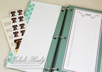 Birthday Binder  Monthly calendar (free download)  Instructions for assembly: includes envelope to store stamps and addresses and possibly bday cards