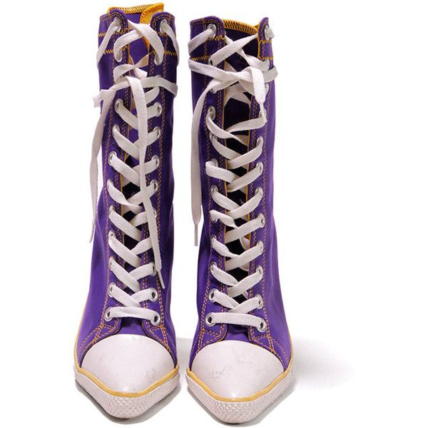 Purple and yellow sporty lace up pointed ankle boots ($79) ❤ liked on Polyvore featuring shoes, boots, ankle booties, stiletto booties, laced up ankle boots, pointed-toe ankle boots, lace-up booties and purple ankle boots