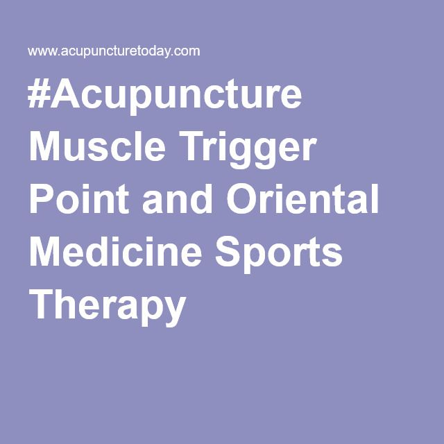 #Acupuncture Muscle Trigger Point and Oriental Medicine #Sports #Therapy.  An interesting look