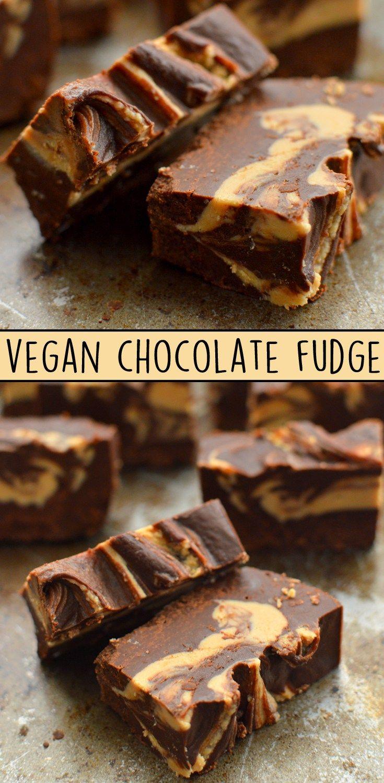 3 Easy Vegan Fudge - Two Ingredients - Vegan Peanut Butter Fudge, Rainbow Unicorn Galaxy Fudge, Chocolate Swirl Fudge - Dairy Free - No Bake - Frosting - Microwave - Rich Bitch Cooking Blog