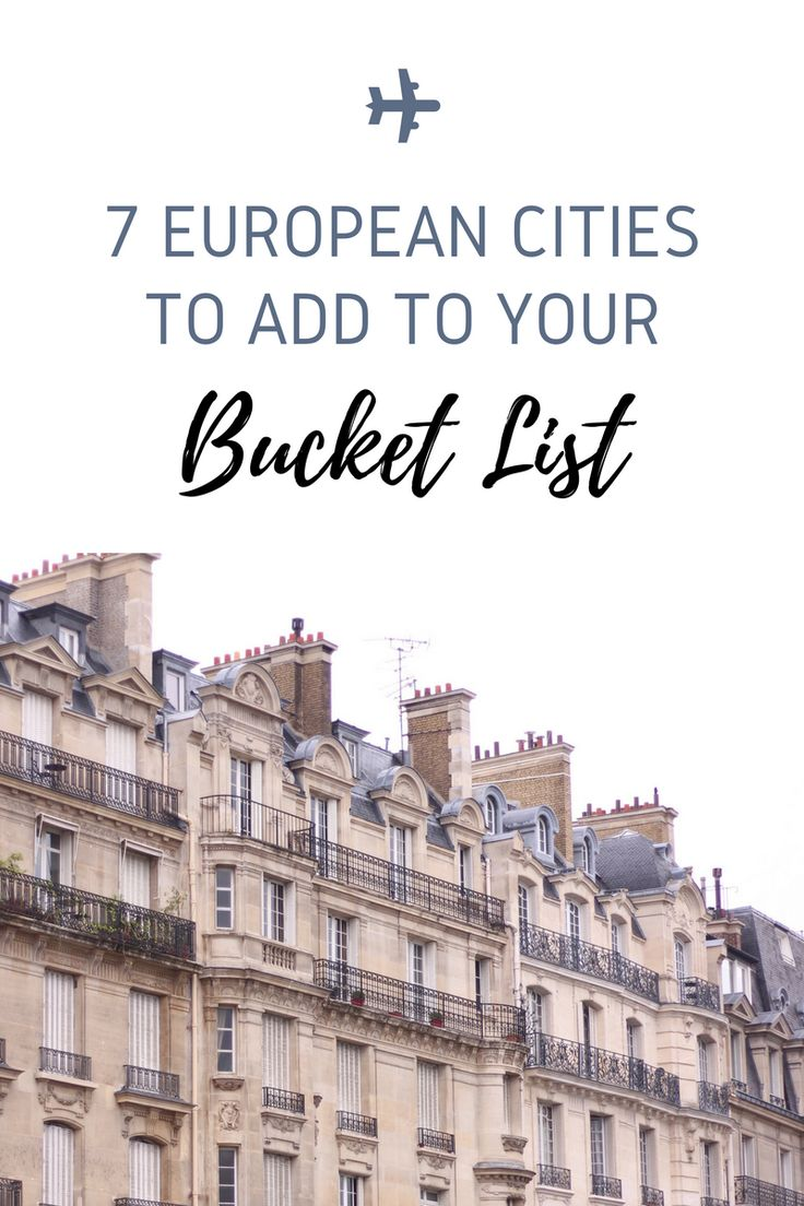 European cities to add to your bucket list! Travel, Wanderlust, Must Visit, To go, Europe.
