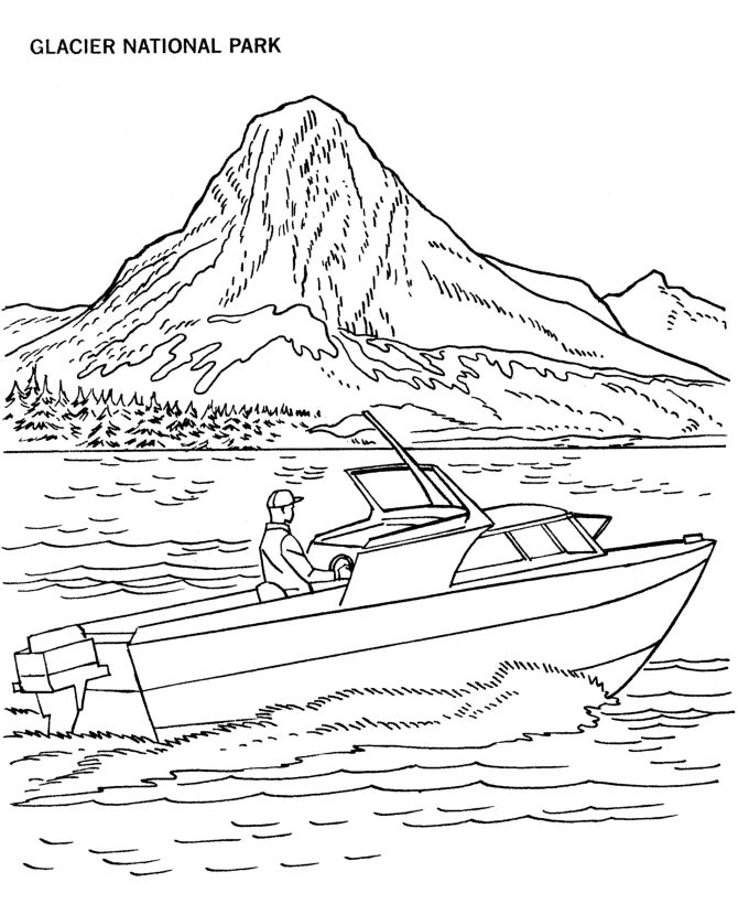 glacier national park coloring page
