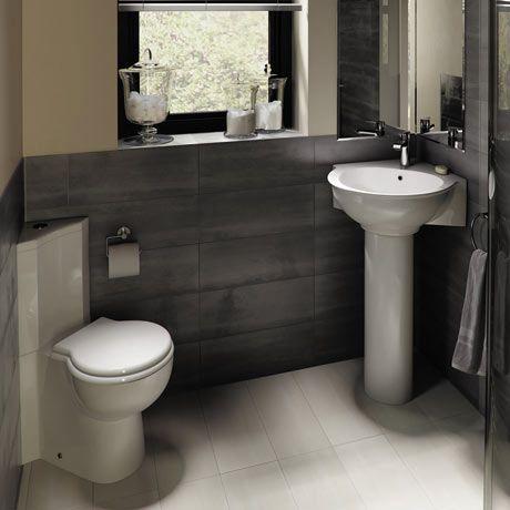 RAK Evolution 4 Piece Suite - Corner Toilet & Basin