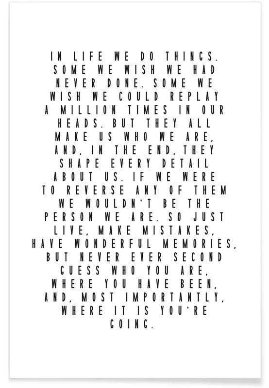 Life Is Beautiful als Premium Poster von Honeymoon Hotel | JUNIQE