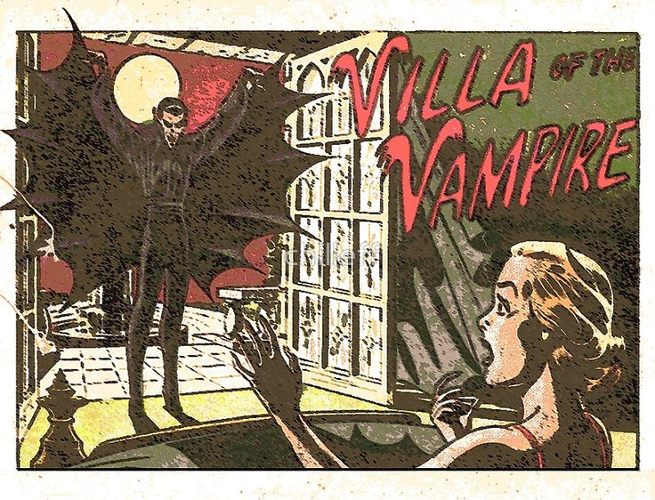 Villa Of The Vampire Comic By Chilleff Retro Comic Vintage Horror Comic Books