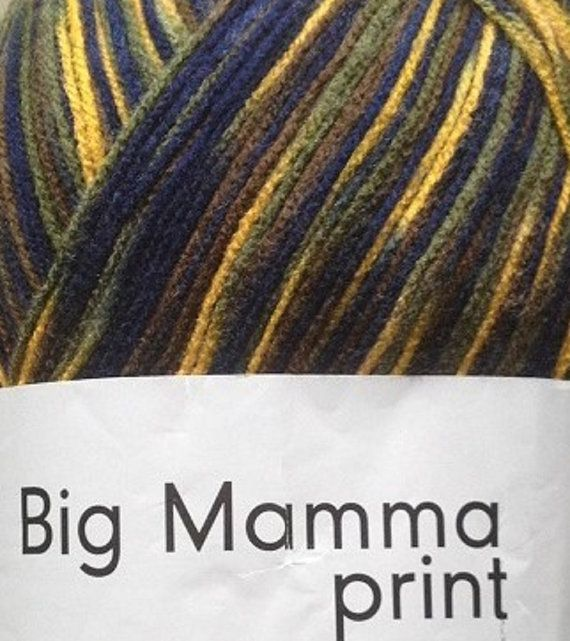 German Big Mamma print yarn Big Mamma print in Navy by Madebyfate, $24.00