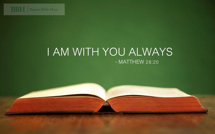 Desktop Wallpaper God Quotes Wallpaper Quot I Am With You Always Quot Matthew 28 20