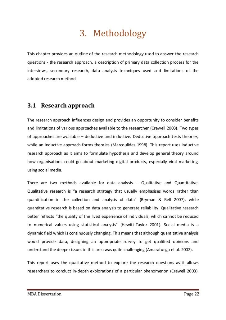 example of methodology research Methodology type of research the type of research that will be used in this study is qualitative research and quantitative research qualitative researchers aim to gather an in-depth understanding of human behavior and the reasons that govern such behavior  research paper example retrieved sep 08, 2018 from explorablecom: https.