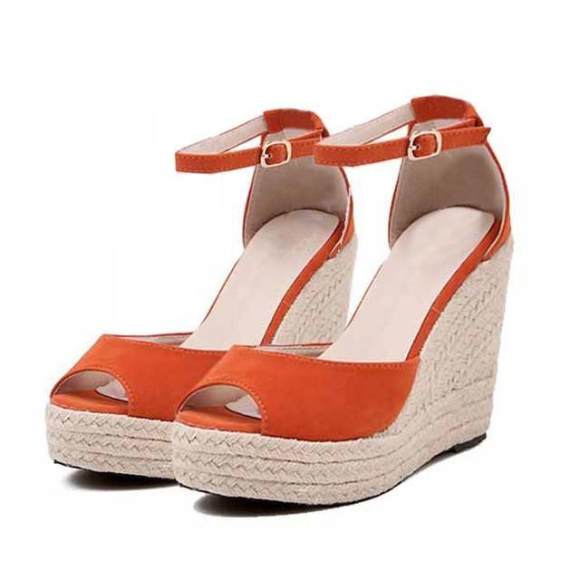 MCCKLE Superior Quality Comfortable Bohemian Wedges Women Sandals Ladies Shoes High Platform Open Toe