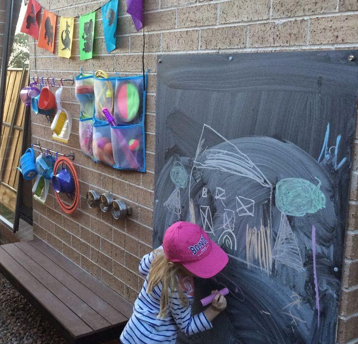 Side Yard Ikea Hack!... Turn a narrow side walkway into a fabulous kids' play area ~ Little Ladybird