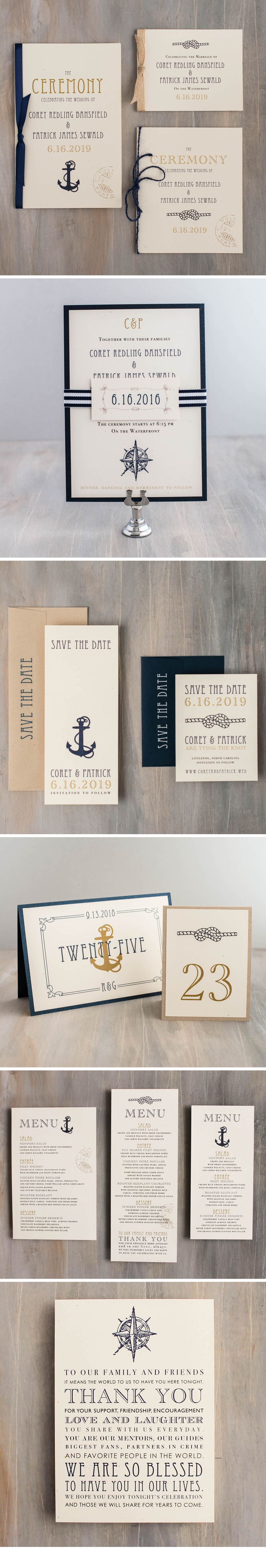 cruise wedding save the date announcement%0A From wedding invitations to ceremony programs  set the tone for your  nautical themed wedding day