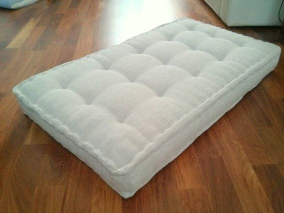 French Mattress Floor Cushion Small 18x18x3 By