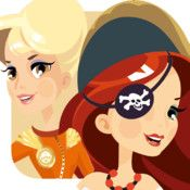 DressApp Adventure - Dress Up and Patterns for Pirate, Astronaut, Explorer and Princess  Get DressApp Adventure NOW and become a brave adventurer: Pirate, Astronaut, Explorer or Princess. Explore the whimsical world of each adventurer, dress them up in style, accessorize them and add tools.   Then play fun games of completing patterns using their clothes and tools.  For iPhone and iPad.
