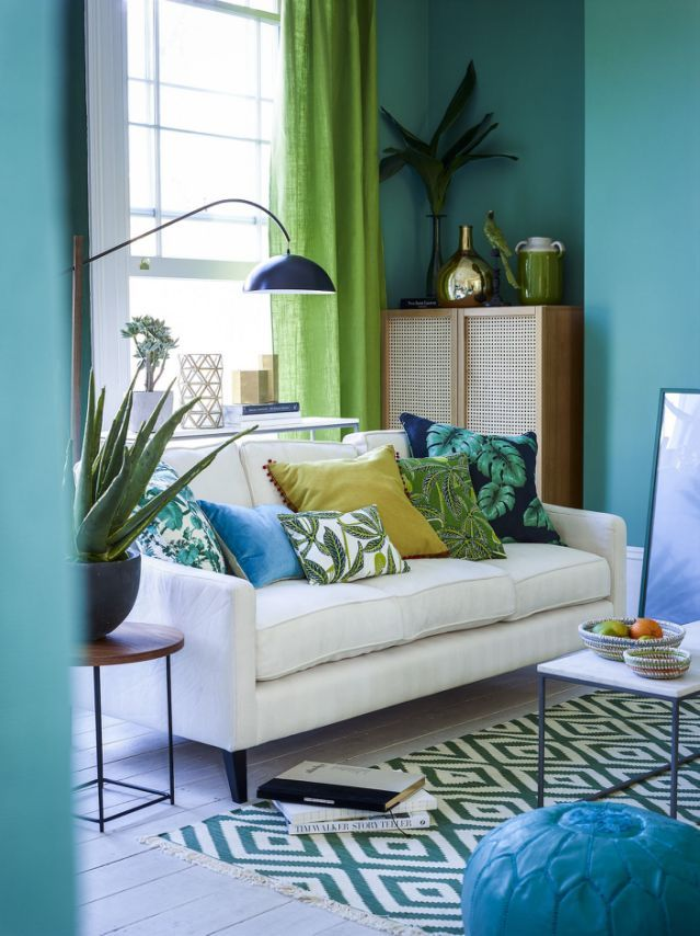 The Best Colour Palettes For A Zen Home Room By Room Tropical Decor Living Room Living Room Color Color Palette Living Room