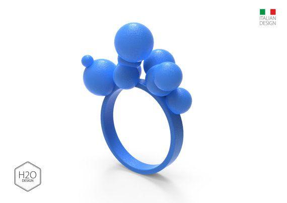 BUBBLE anello bolle nuvola colorato giovane di H2Oproductdesign