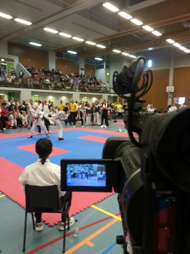 Filming at The Battle of Utrecht: an international Taekwon-do event today  on october the 5th 2014 in The Netherlands. Beautiful martial arts. We are making a small film for In Nae Do Kwan, the sportsclub that is organising this event.