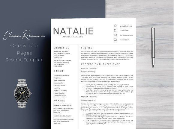 Resume Template 5 Pages/CV by Quality Resume on @creativemarket Professional printable resume / cv cover letter template examples creative design and great covers, perfect in modern and stylish corporate business design. Modern, simple, clean, minimal and feminine style. Ready to print us letter and a4 layout inspiration to grab some ideas. In psd, indd, docs, ms word file format.
