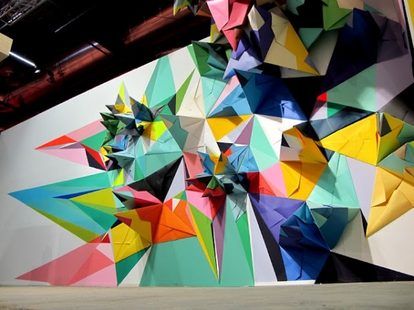 Nuria Mora, a Madrid-based artist who recently created this exhibition stand.