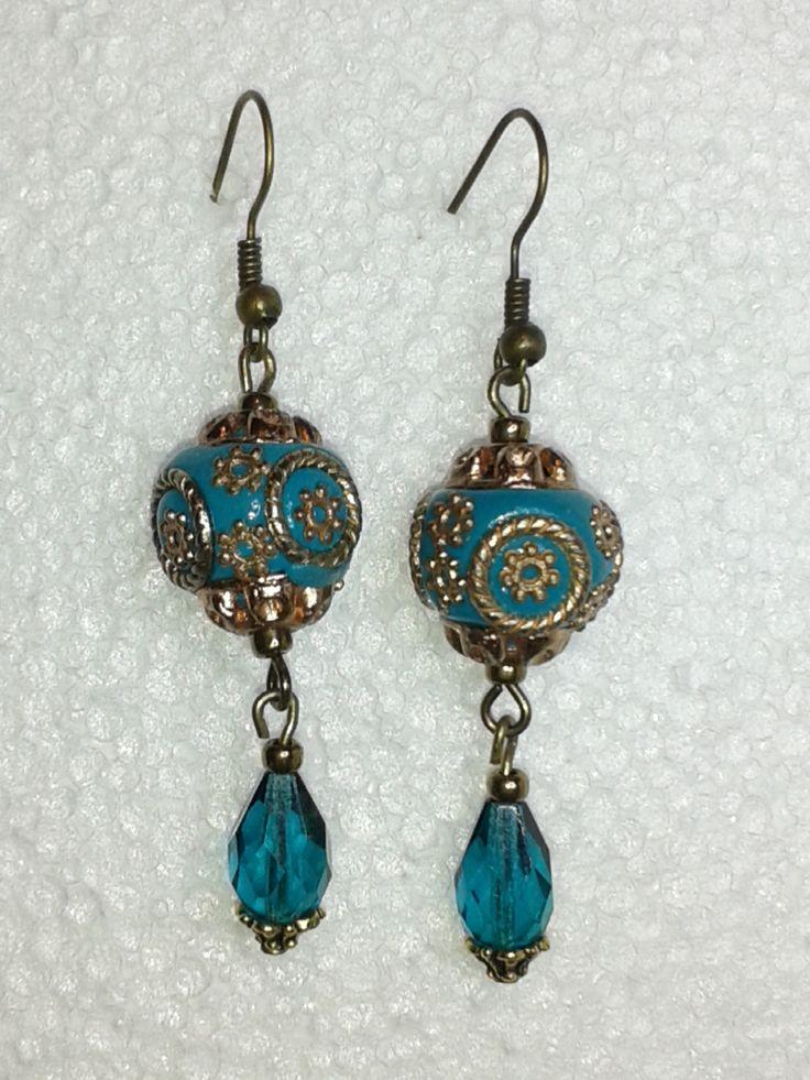 türkiz fülbevaló - turqoise earring