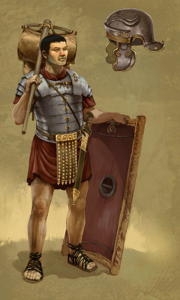 """Ephesians 6:11 - """"Put on the full armor of God so that you can take your stand against the devil's schemes.""""   Roman Soldier by *JonHodgson on deviantART"""