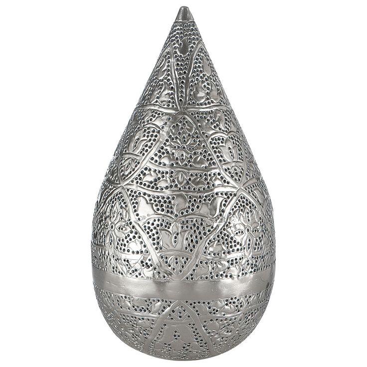 Orientalische Lampe MEDINA aus Metall, H 48cm