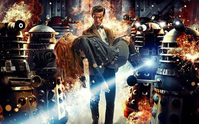 The Doctor and Amy Pond - Doctor Who wallpaper