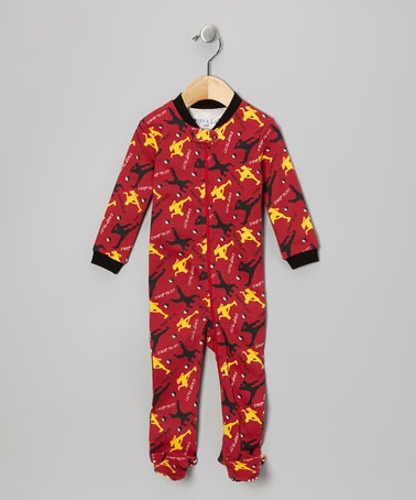 Take a look at this Red Karate Footie - Infant by Boker & Laila on #zulily today!