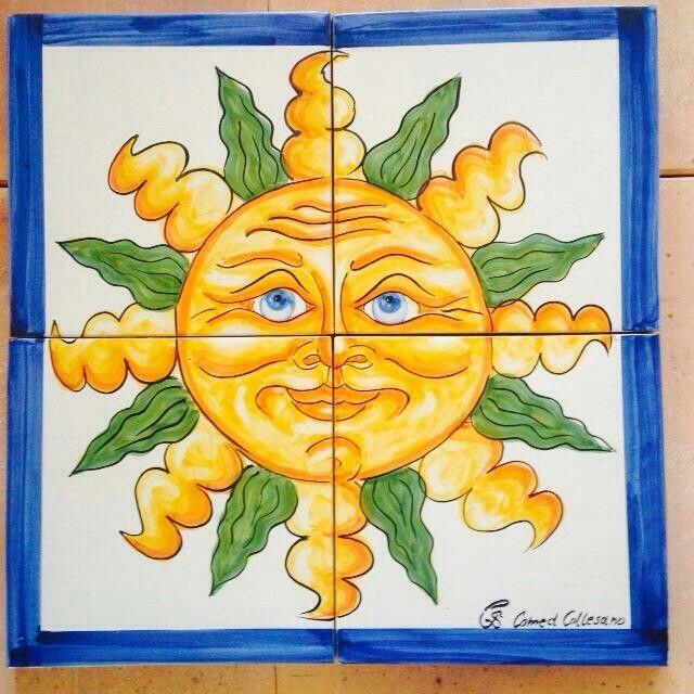 #art #ceramics #sun #sicily #holiday #comedceramiche