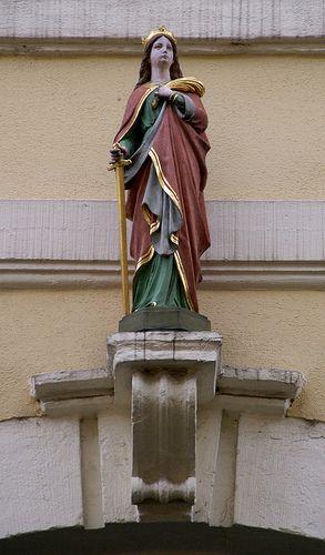 Mainz, Weihergartenstrasse, hl. Katharina von Alexandrien (St. Catherine of Alexandria) by HEN-Magonza