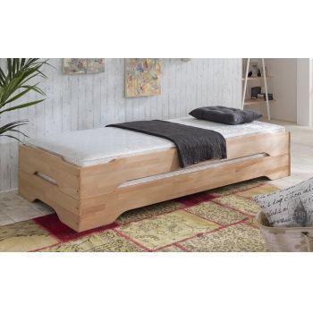 Stapelbetten Gästebett 2x Betten 100x200 Kernbuche massiv